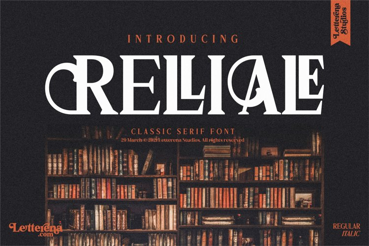 RELLIALE - Classic Serif Font example image 1