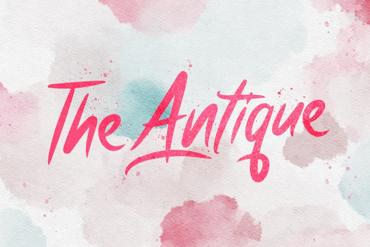 Antique - Bold Script Font example image 1