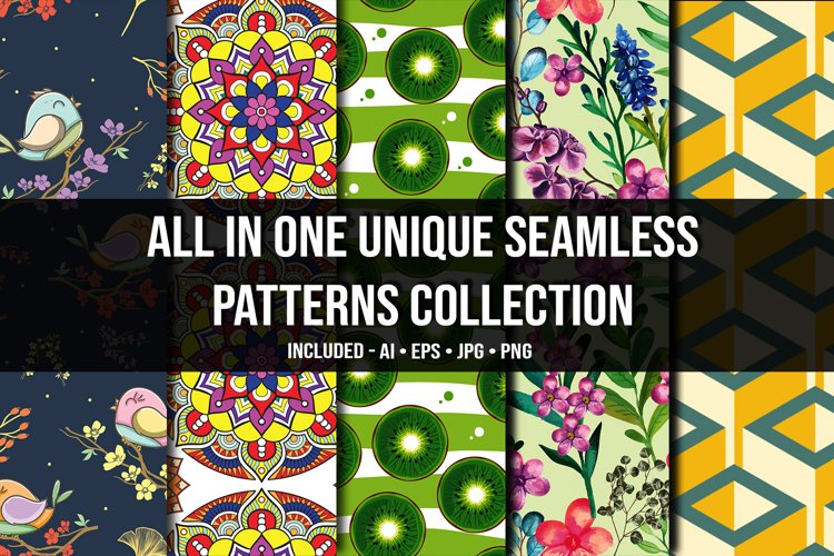 All in One Unique Seamless Patterns Collection example image 1