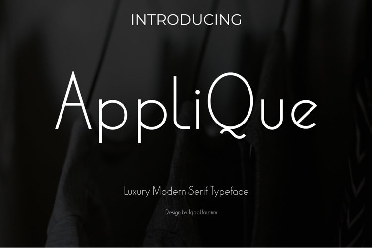 Applique | Modern Typeface Font example image 1