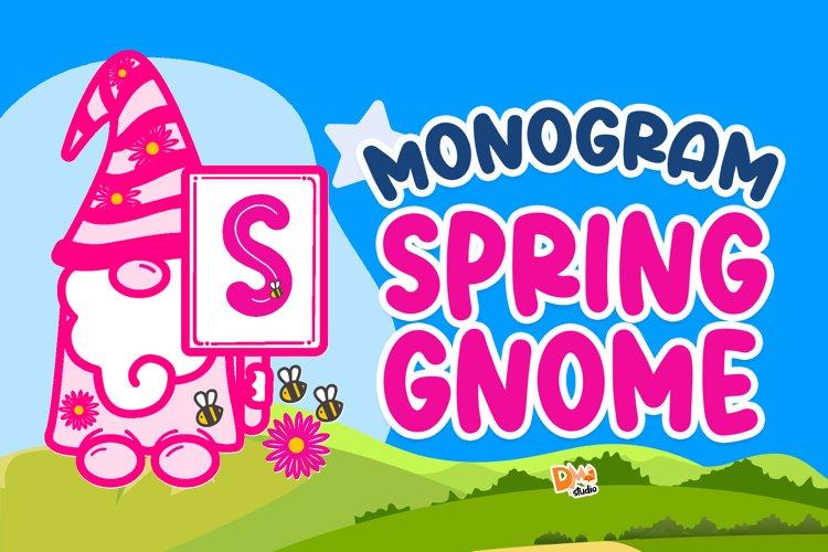 Monogram Spring Gnome example image 1
