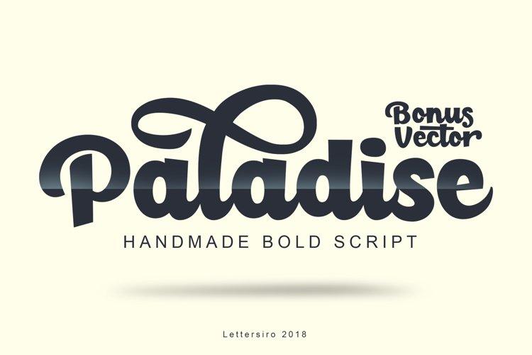 Paladise Font & Extras example image 1