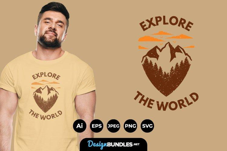 Explore The World for T-Shirt Design