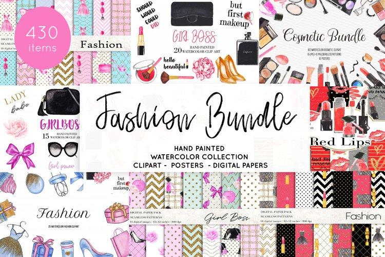 Watercolor Fashion Makeup Bundle, Sublimation Bundle