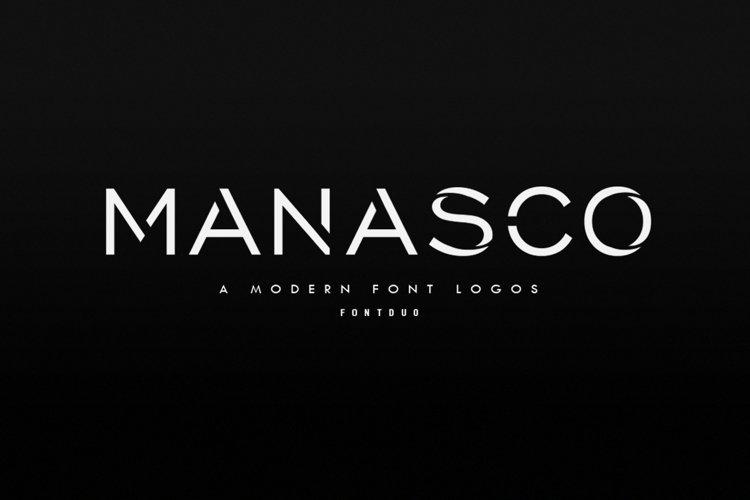Manasco -A Modern Font Logos