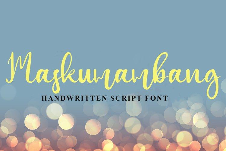 Maskumambang Handwritten Script Font example image 1