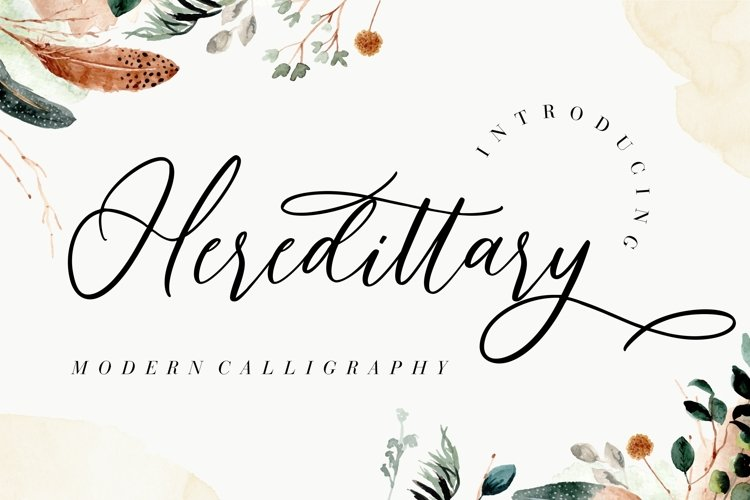 Heredittary Modern Calligraphy example image 1