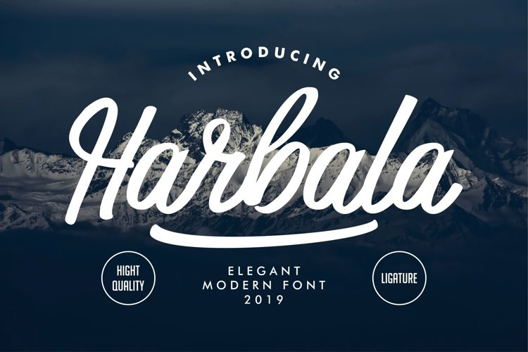 Harbala   Elegant Modern Script Font example image 1