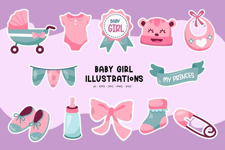 Baby Girl Illustrations