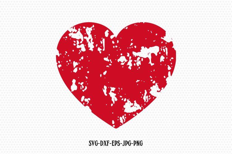 Distressed heart svg, Valentine SVG, Valentines Day SVG example image 1