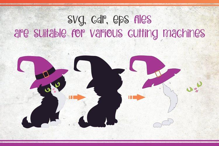 Black cats. Halloween clip art example 5