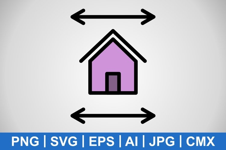 Vector Real Estate Blueprint Icon example image 1