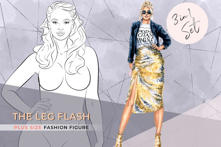 The Leg Flash| Plus size Fashion Figure 3 in 1 Set