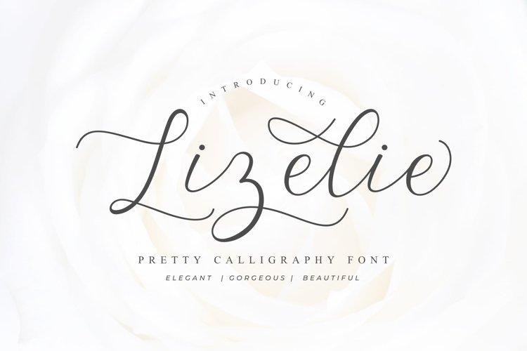 Lizelie Calligraphy font example image 1