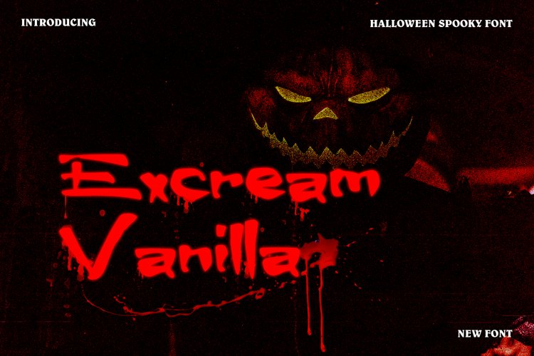 Excream Vanilla Horror Display Font example image 1