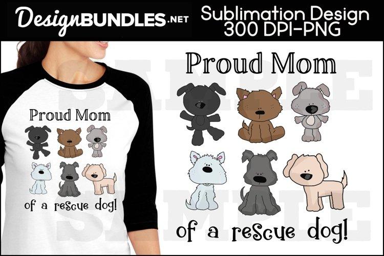 Rescue Dog Sublimation Design
