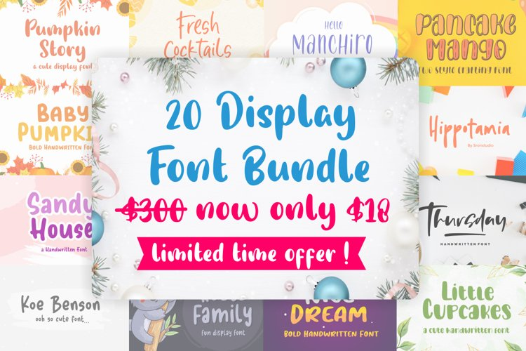 20 Display Font Bundle !