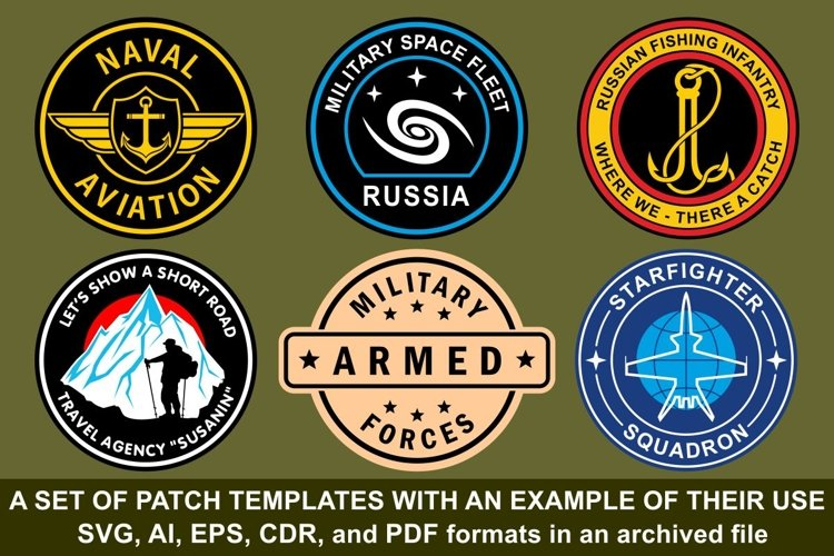 A set of patch templates with an example of their use example image 1