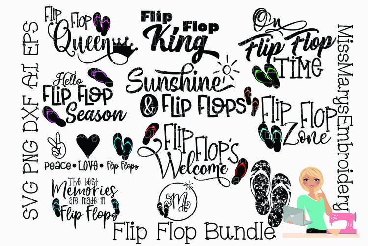 Flip Flops SVG Bundle | Flip Flop SVG | Summer SVG | SVG