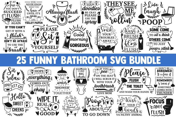 Bathroom svg bundle, funny bathroom svg, toilet svg, home
