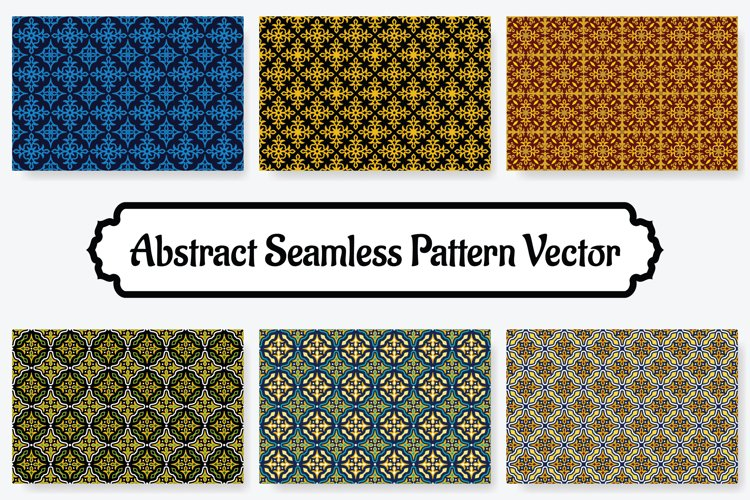 6 Collection Of Abstract Seamless Pattern Vol.7 example image 1