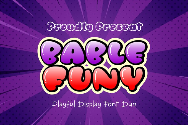Bable Funy - layered font duo example image 1