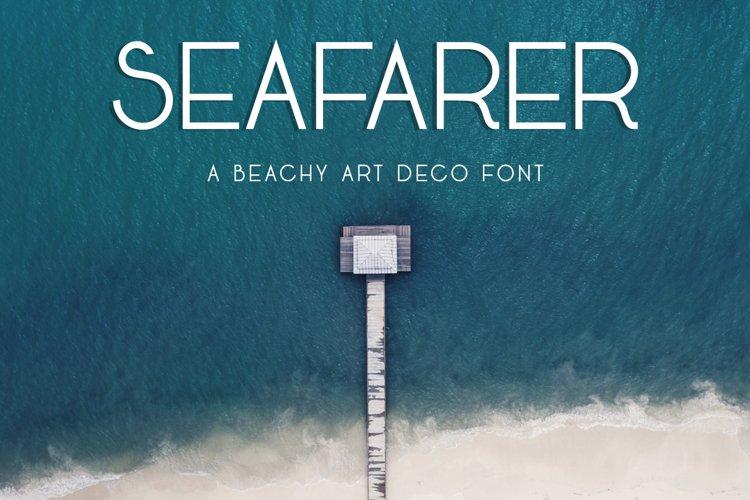 Seafarer   A Beachy Art Deco Font example image 1