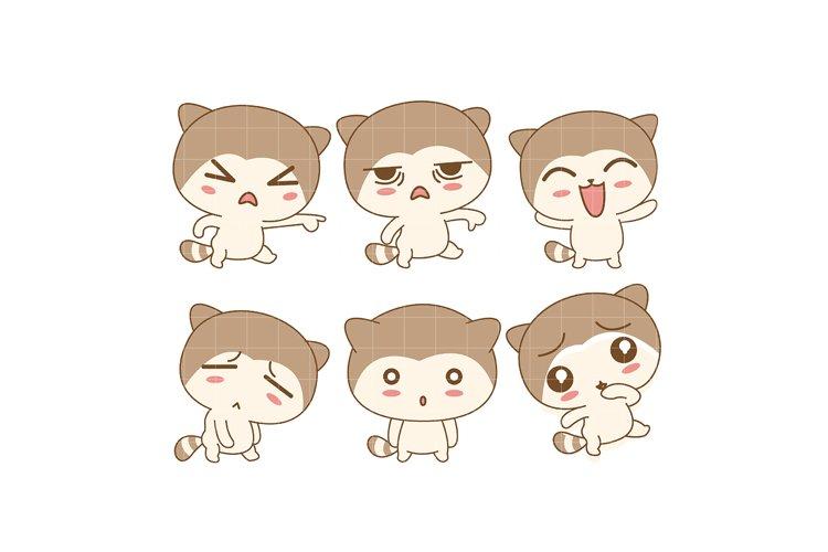 Kawaii Bunny Emotions example image 1