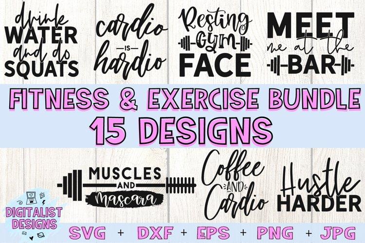 Fitness Bundle SVG   Gym SVG   Exercise SVG example image 1