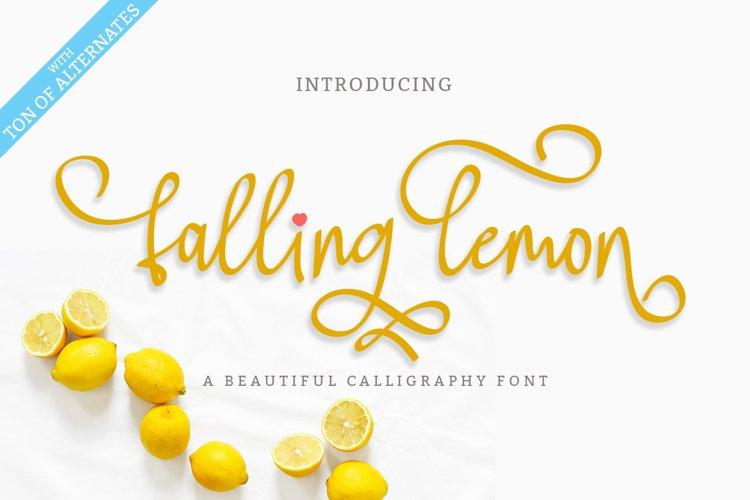 Falling Lemon   Modern Calligraphy Font example image 1