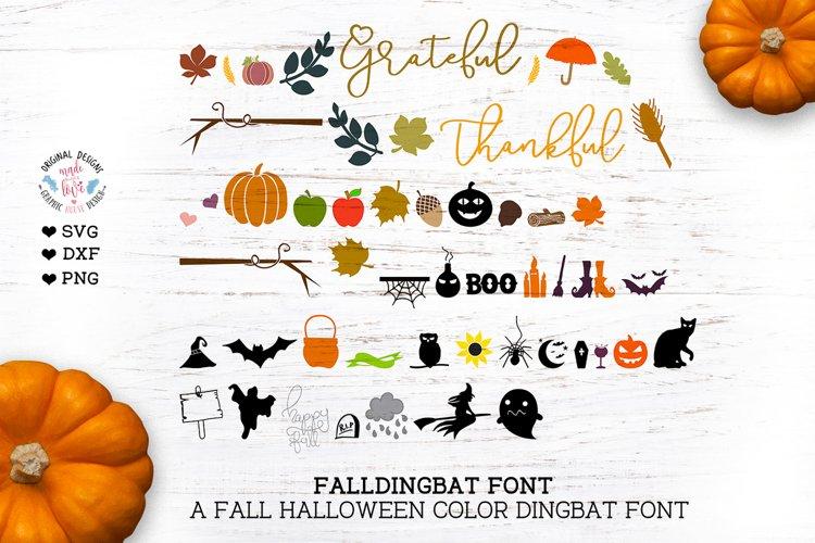Fall Halloween Dingbat Color Font example image 1