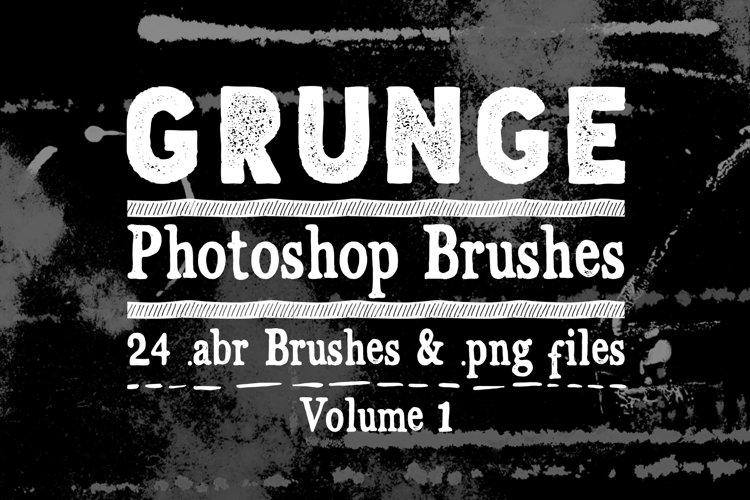 Photoshop Brushes - Grunge Texture Brushes Vol 1 example image 1