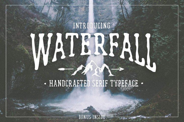 Waterfall. Handcrafted Font (+bonus)