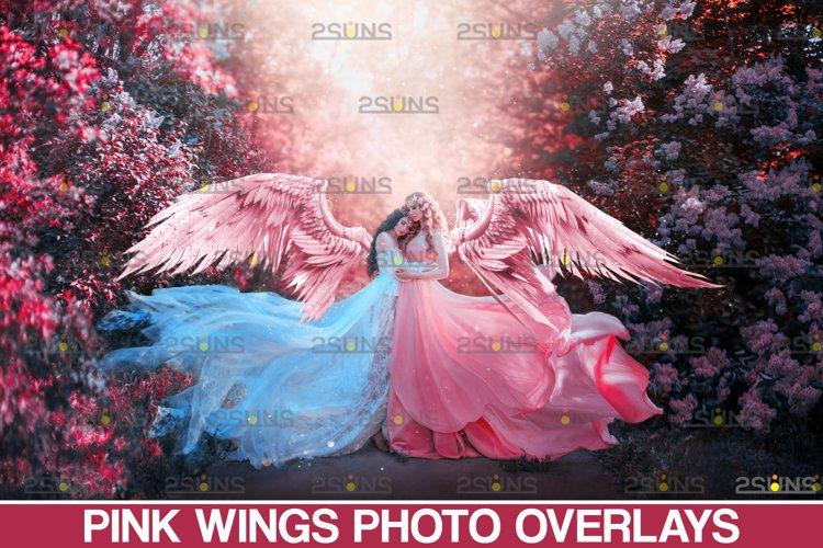 Pink Angel Wing overlay & Photoshop overlay example image 1