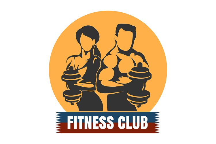 Man and Woman Fitness Club logo Design example image 1