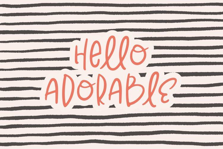 Hello Adorable   Handwritten Cute & Quirky Sans