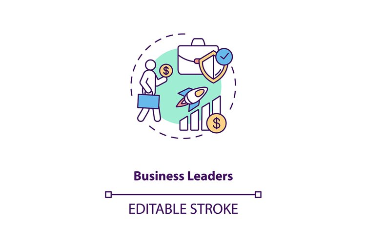 Business leaders concept icon example image 1