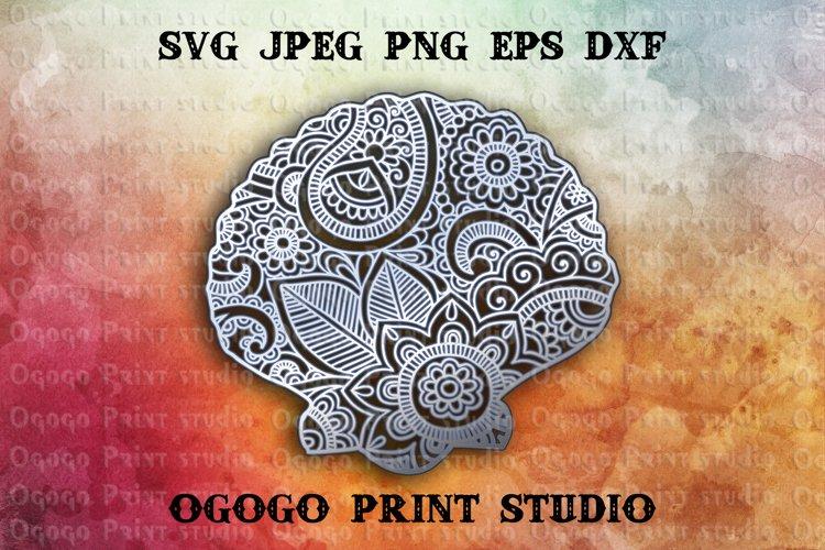 3D Layered Seashell Mandala Svg, Zentangle SVG, Sea Svg