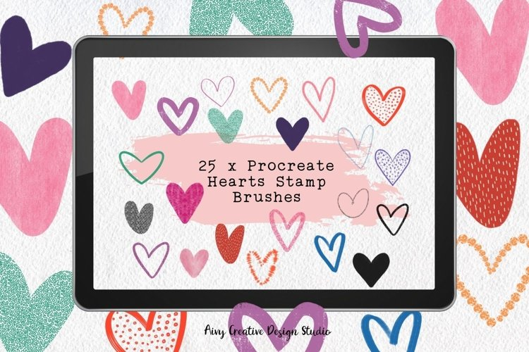 25 Procreate Heart Stamp Brushes by AivyCreative