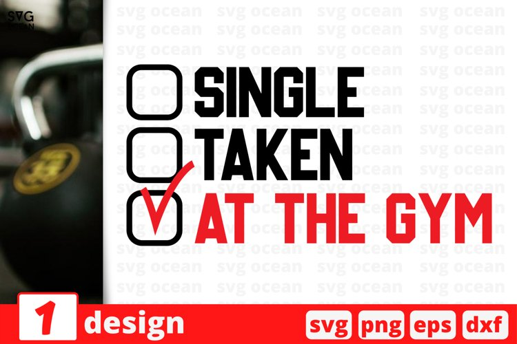 AT THE GYM SVG CUT FILE | Fitness cricut | Workout quote example image 1