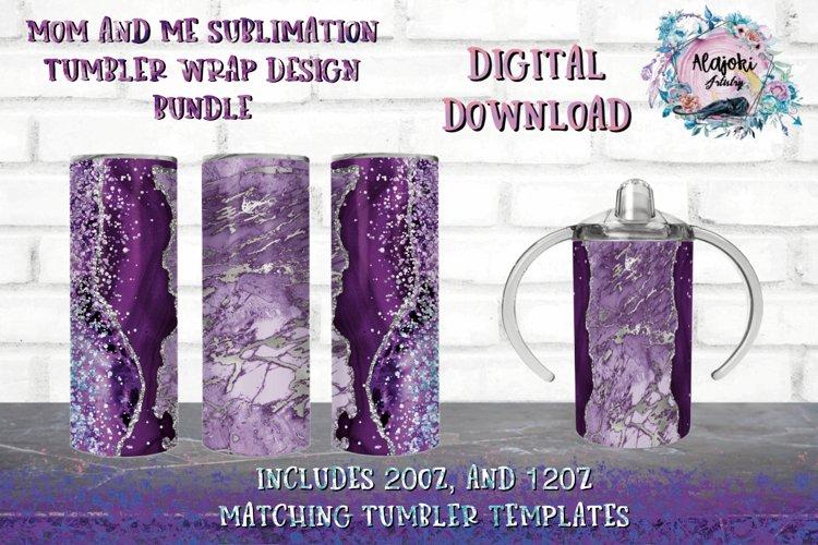 20oz| 12oz |Sublimation Skinny Tumbler Wrap | Design Bundle example image 1