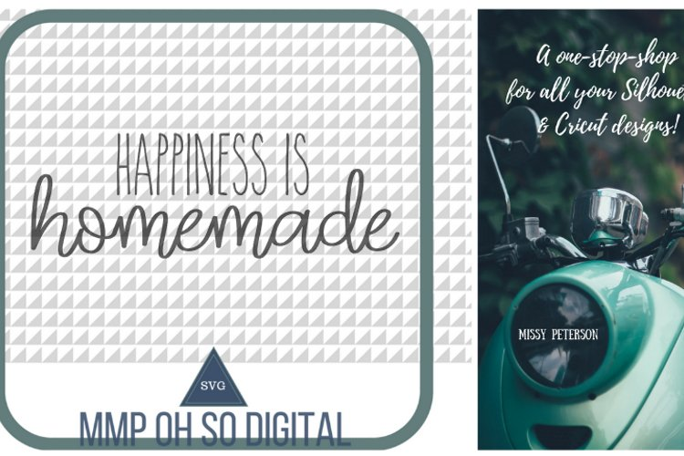 Happiness is Homemade SVG, farmhouse decor, housewarming gift, farmhouse cut file, for silhouette, text vector, SVG, farmhouse sign, quote example image 1