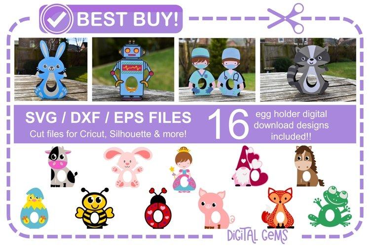Egg holder bundle! 16 designs! Easter / Birthday / Thank you example image 1
