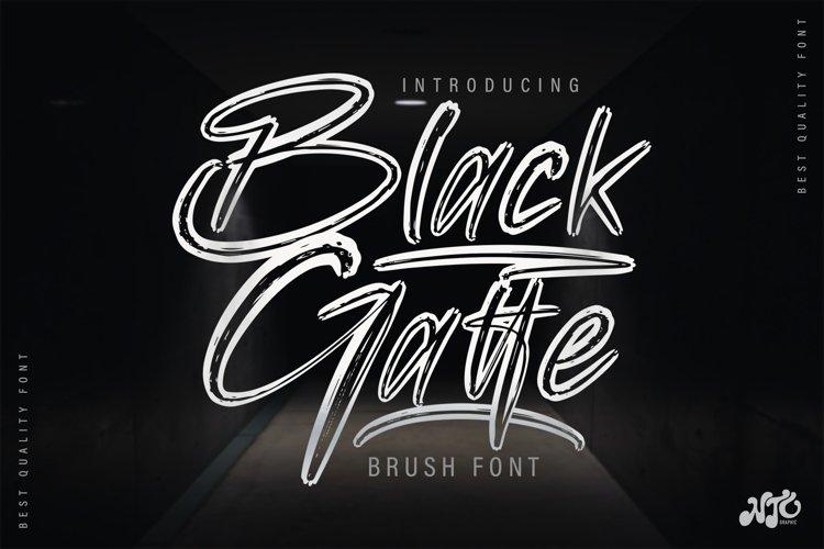 Black Gatte - Brush Script Font example image 1