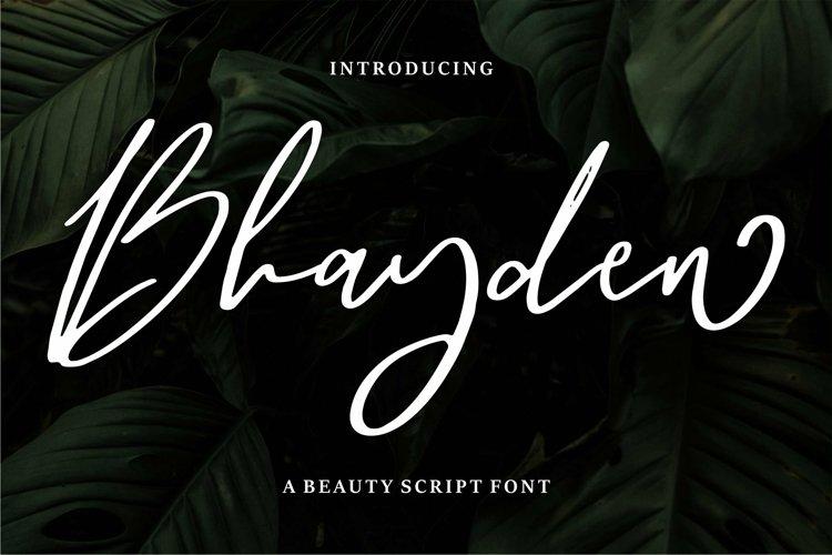 Web Font Bhayden - A Beauty Script Font