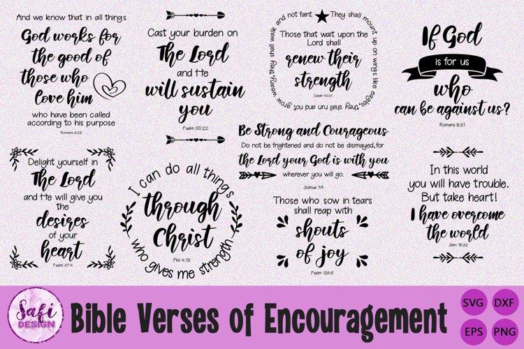 Bible Verses of Encouragement Cut File Bundle- Scripture SVG
