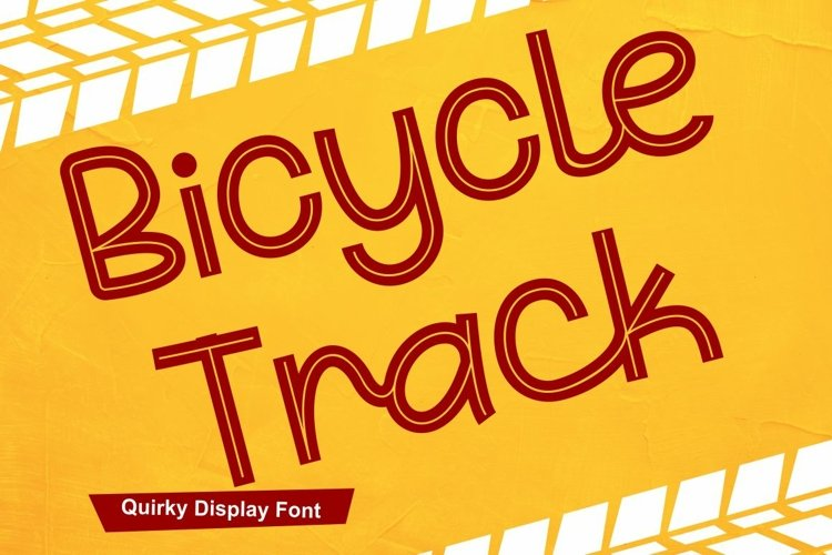 Bicycle Track - Quirky Display Font example image 1