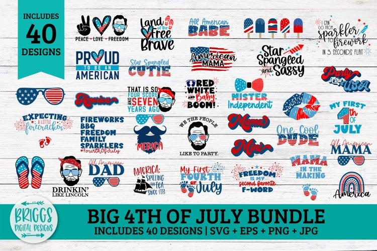Big 4th of July SVG Bundle   40 Patriotic SVG Designs