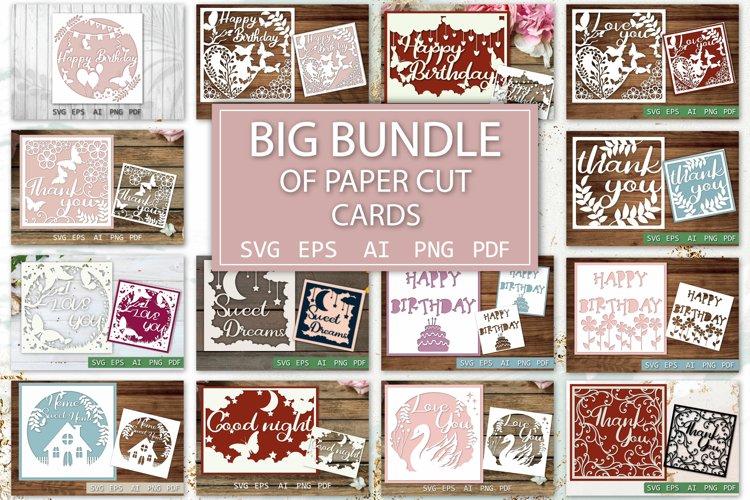 Paper Cut Cards Big Bundle, SVG Paper cutting , papercut out