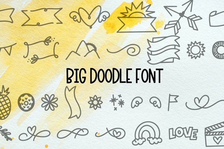 Web Font Big Doodle Font For Word Art - Dingbat Web Font example image 1